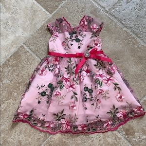 Rare Editions 3t gorgeous pink floral formal dress